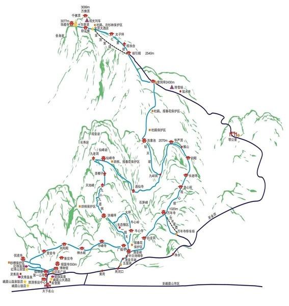 峨眉山地形图